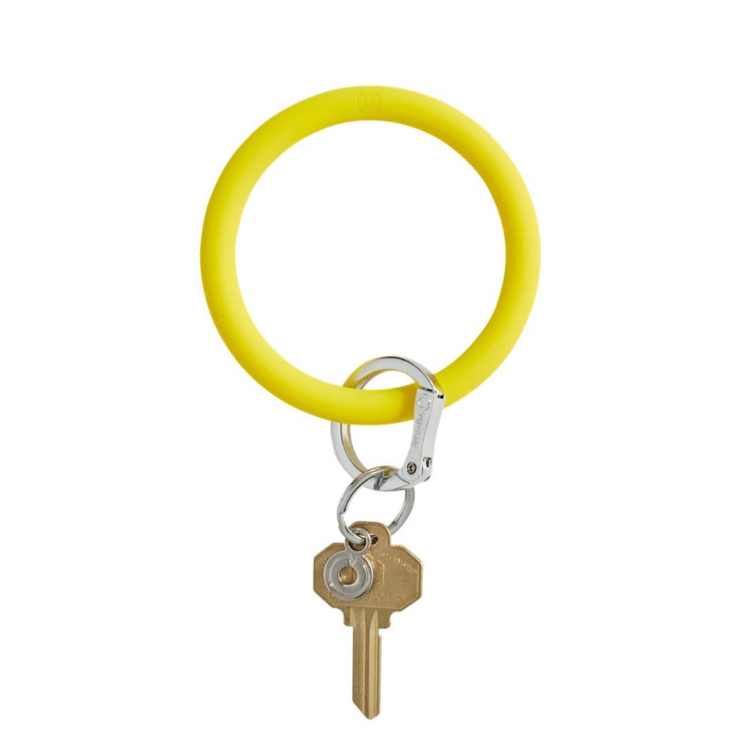 Yes Yellow Silicone Keyring