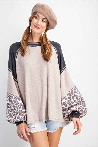 Leopard Mix Top
