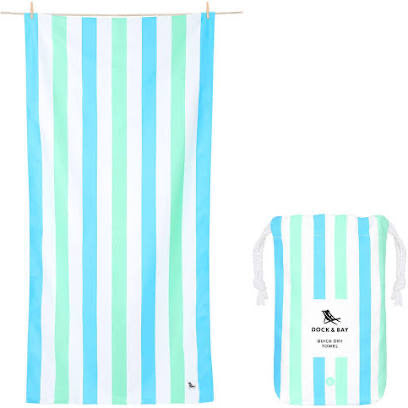 Dock and Bay XL Towel - Mint+Blue