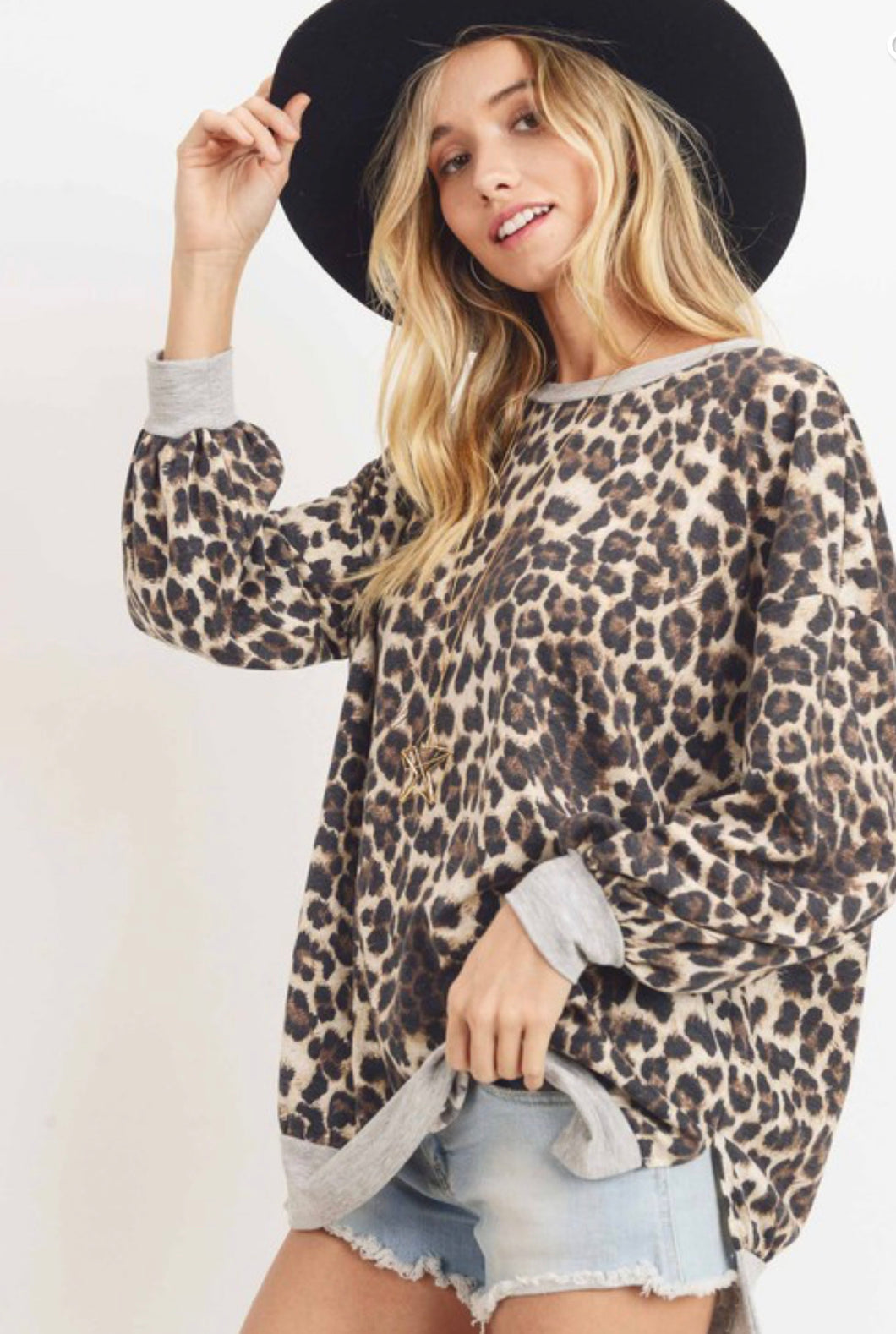Leopard French Terry Top