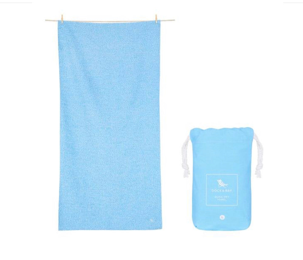 Dock and Bay XL Towel - Lagoon Blue