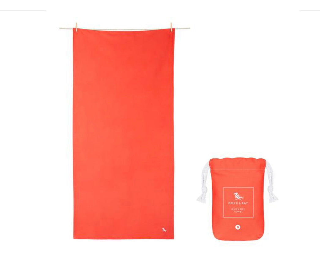 Dock and Bay XL Towel - Red