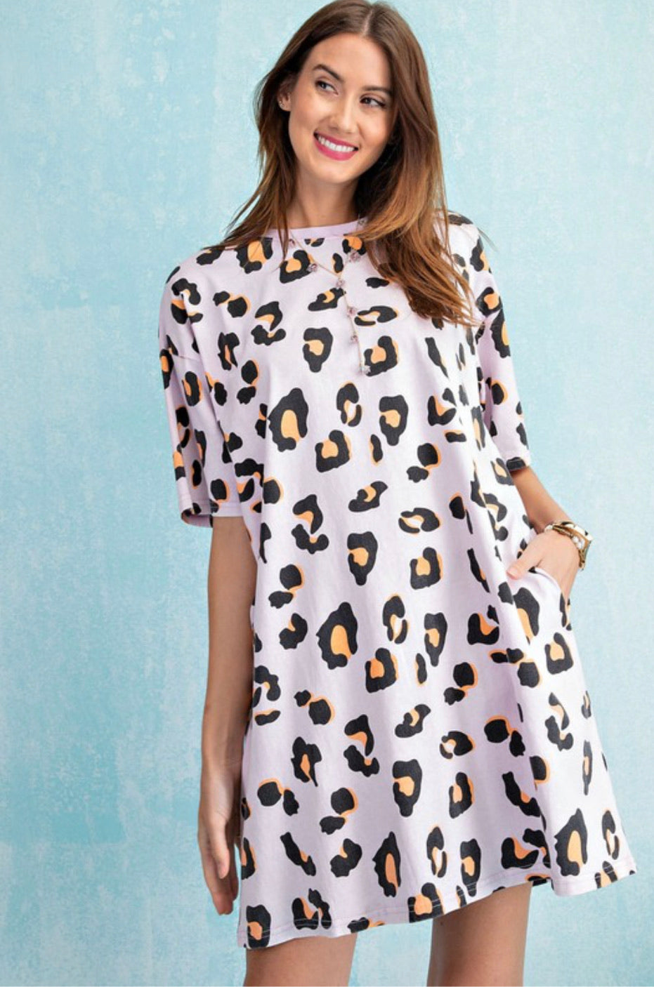 Boxy Leopard Print Dress