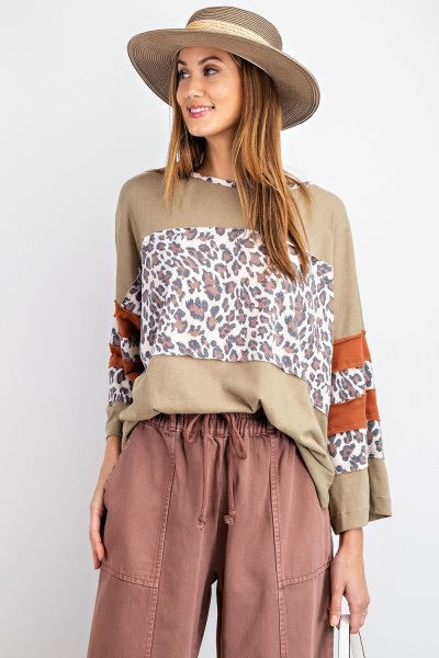 Leopard Mix Cotton Top