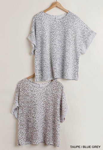 Muted Leopard Print Top