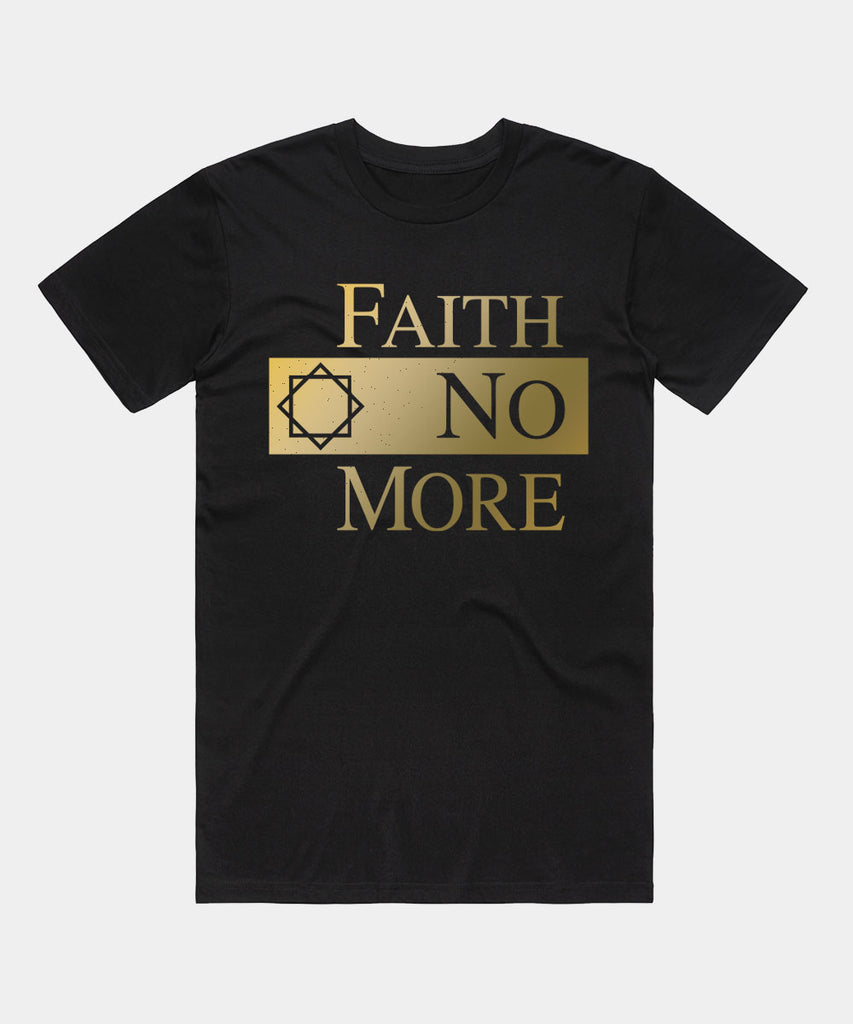 Faith No More (Classic Logo Gold) Men's Black T-Shirt