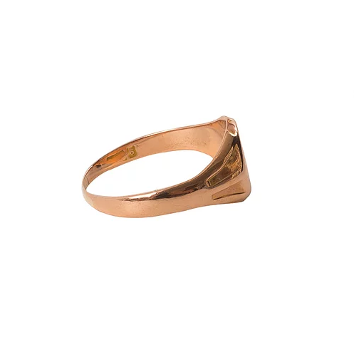 'Oliver' Engravable Mens Rose Gold Signet Ring