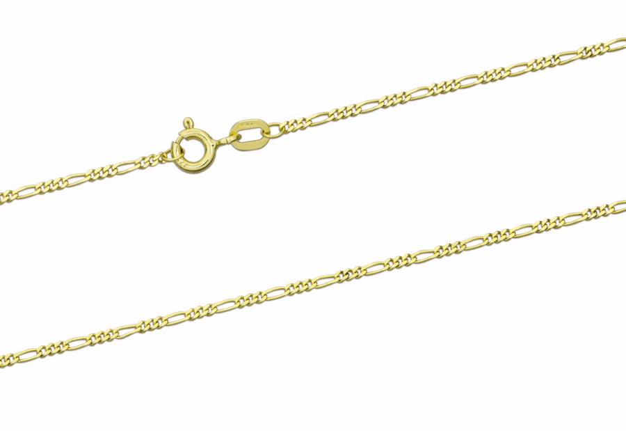 'Gabriella' 9ct Yellow Gold Figaro Chain 18