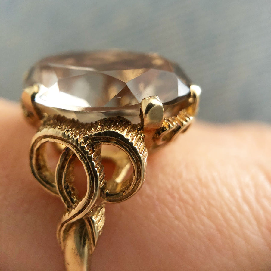 'Betsy' Vintage 9ct Citrine Cocktail Ring