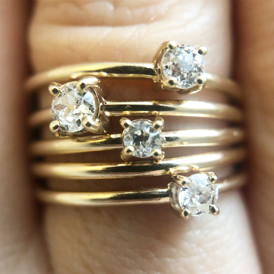 'Sadie' Ancienne Diamond Stacking Ring