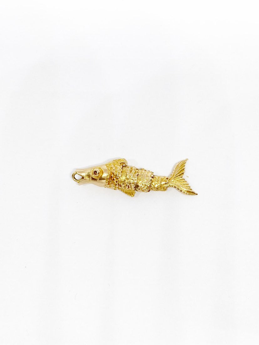 'Francine' 9ct Vintage Gold Fish Charm
