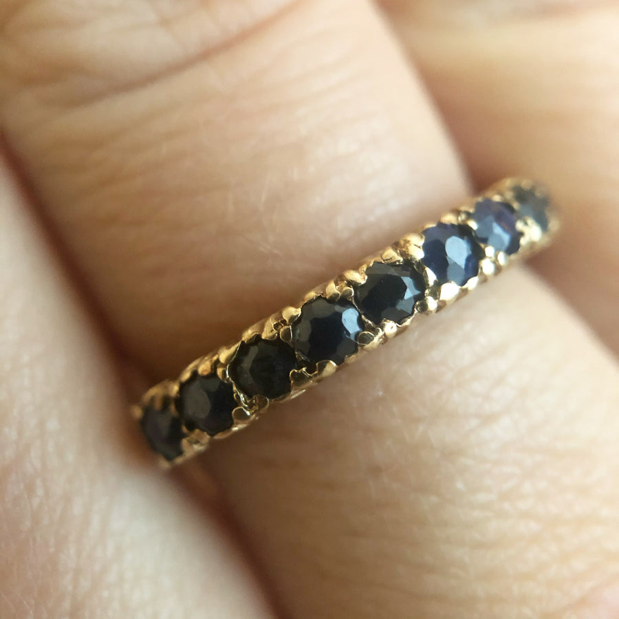 'Nora' Vintage 9ct Sapphire Half Eternity Ring