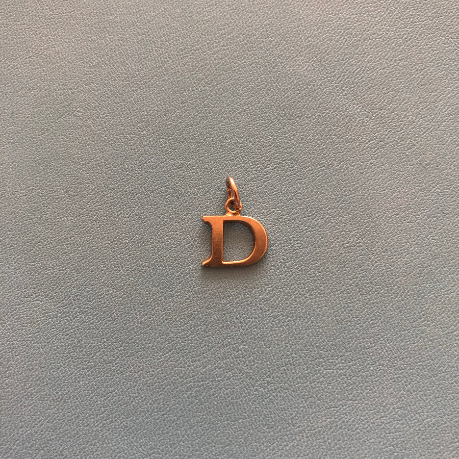 'Darcy' 9ct Vintage Gold D Charm