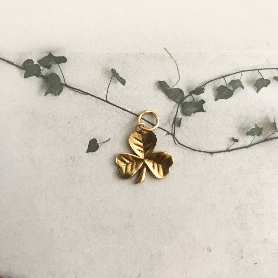 'Serendipity' 9ct Vintage Gold Clover Charm