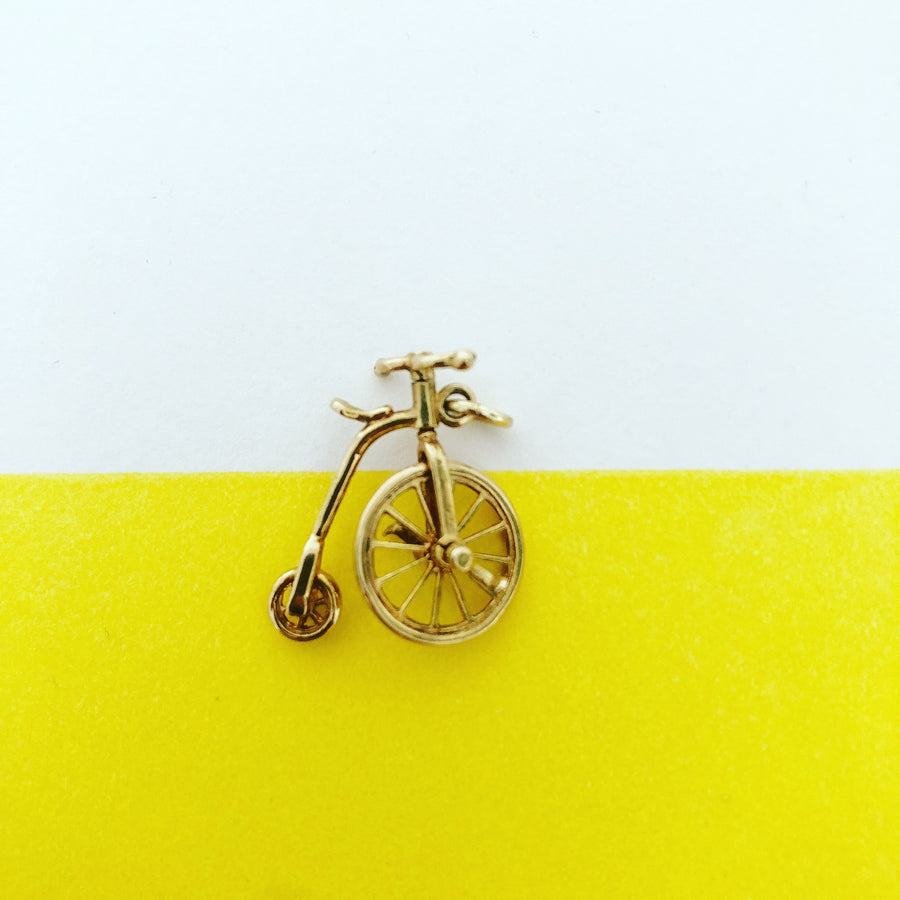 'Penny' 9ct Vintage Gold Pennyfarthing Charm