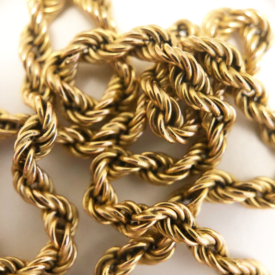 'Alice' 9ct Vintage Gold Rope Necklace