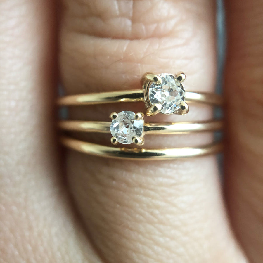 Ancienne Stacking Trio Of Rings