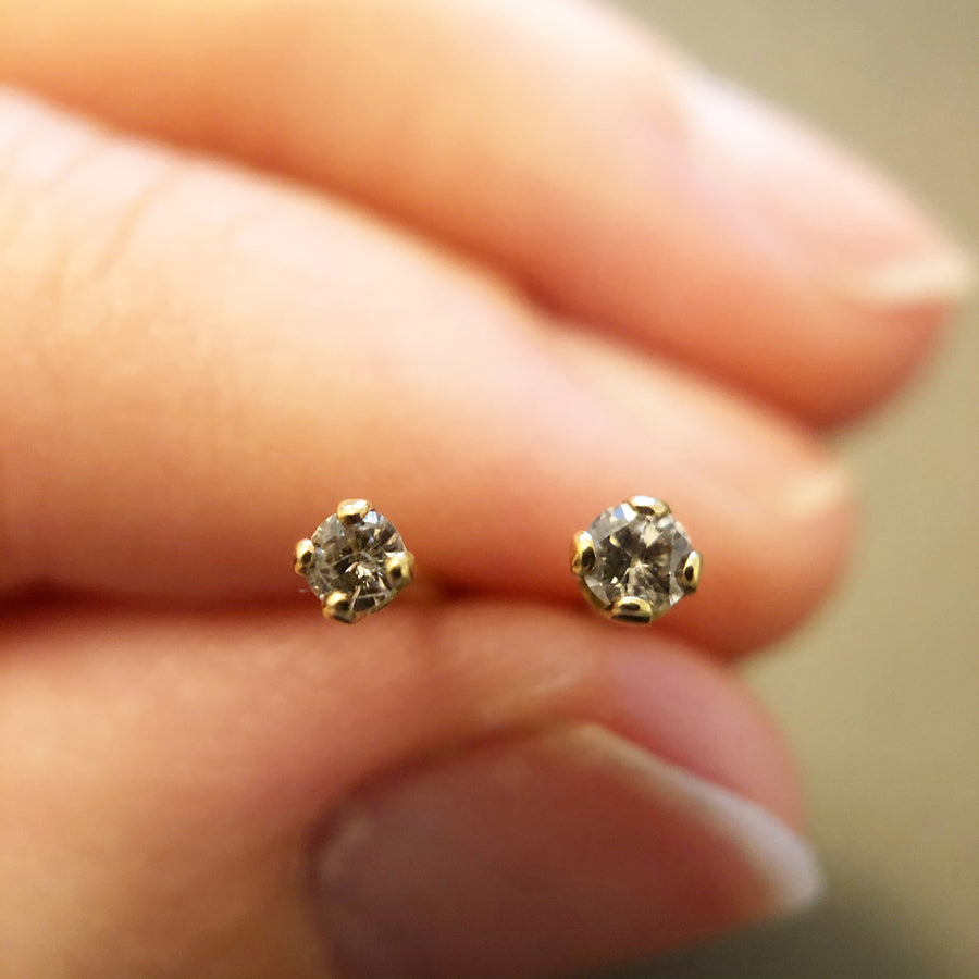 'Orla' 18ct Vintage Diamond Stud Earrings