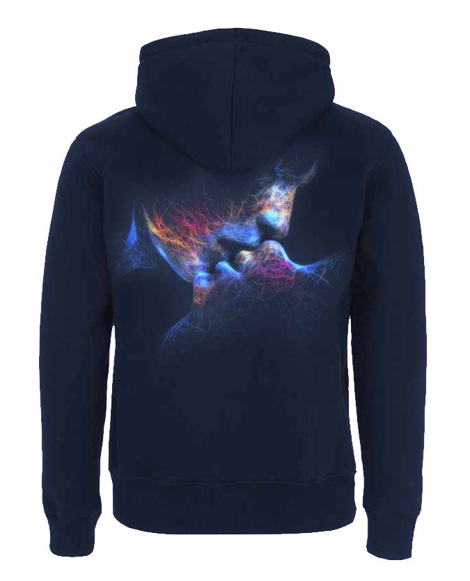 'No Sound Without Silence' Navy Mens Hoodie
