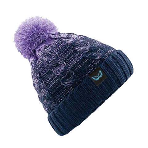 Angel Wings Purple Fade Bobble Hat