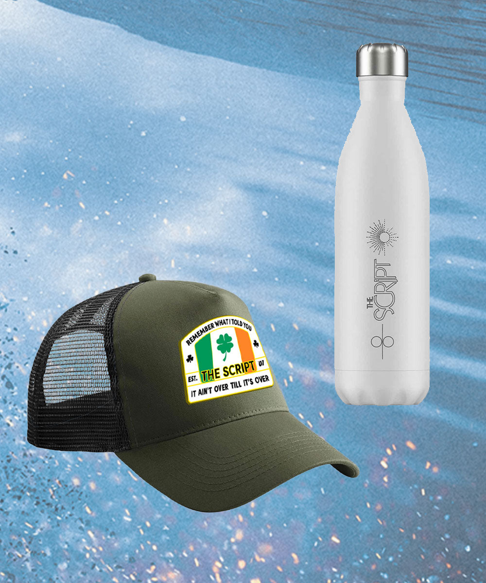 Trucker Cap + Water Bottle Bundle
