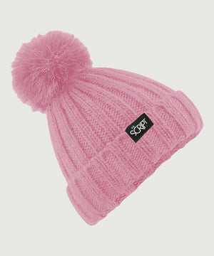 The Script Pink Bobble Hat