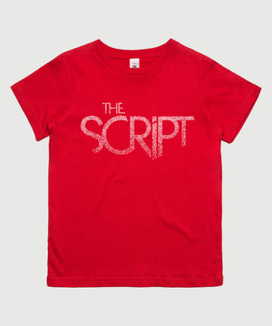 The Script Logo Kids T-Shirt - Red