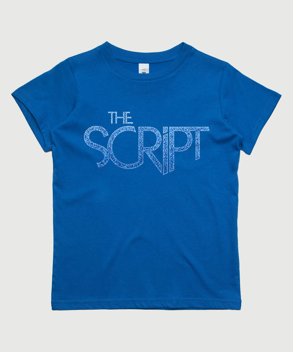 The Script Logo Kids T-Shirt - Blue