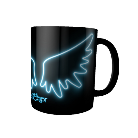 'Angel Wings' Black Mug