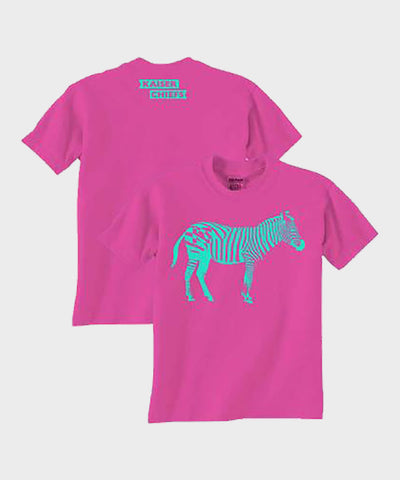 Zebra Pink Youth T-Shirt