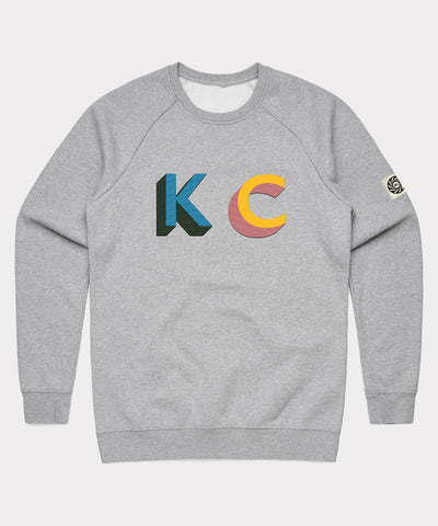 KC Embroidered Sweat - Grey