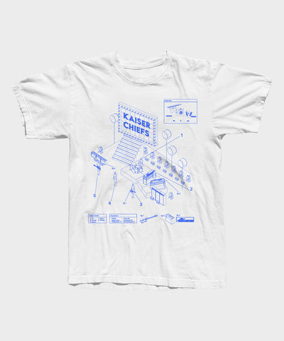 Stage Plot White T-shirt