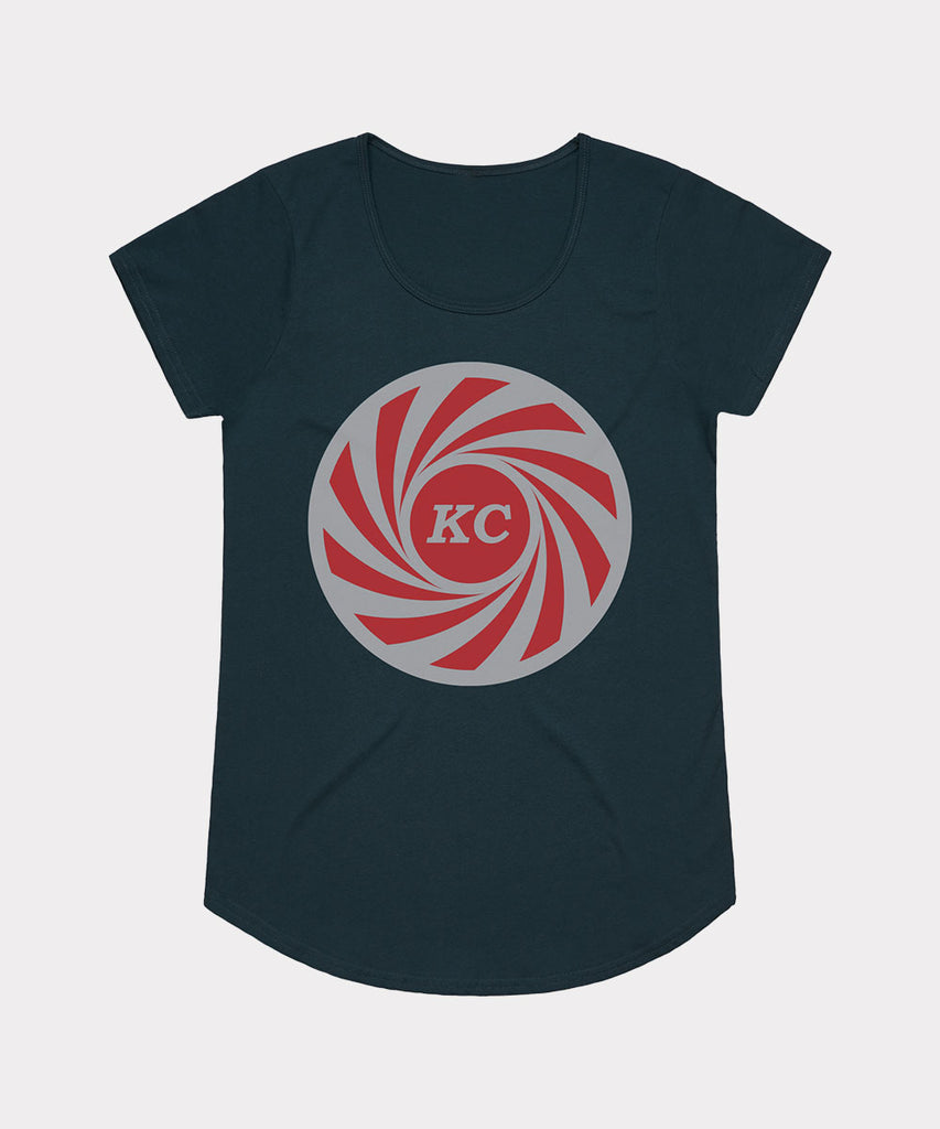 KC Swirl Ladies T-shirt - Navy