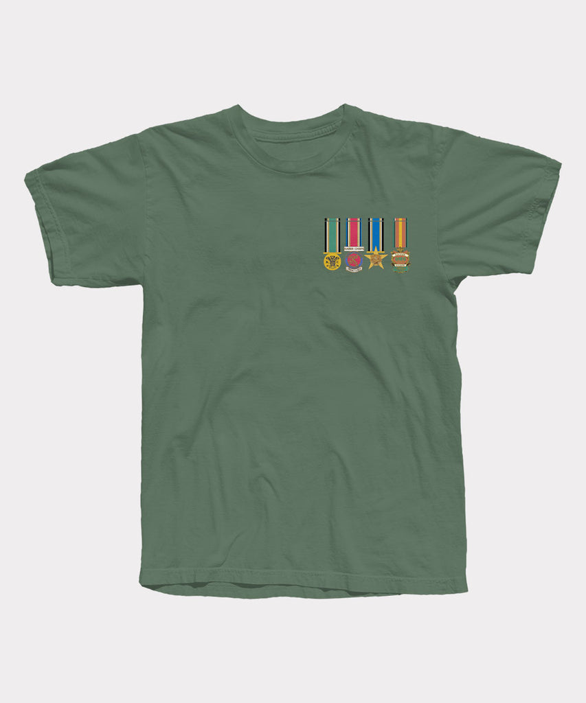 Medals Military Green T-Shirt