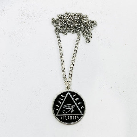 'Eye' Black/Silver Necklace