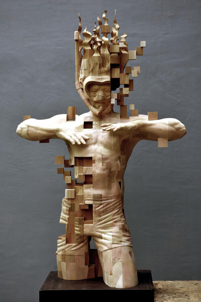 Wooden Snorkeler Sculpted by Hsu Tung Han