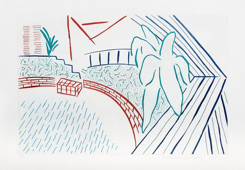 David Hockney - My Pool and Terrace