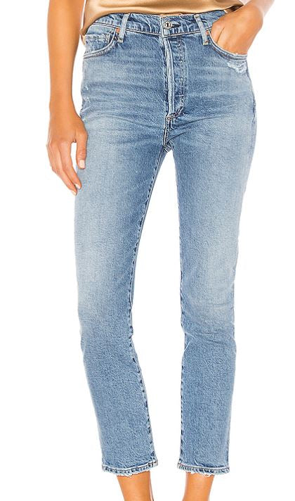 Olivia High Rise Slim in Chit Chat