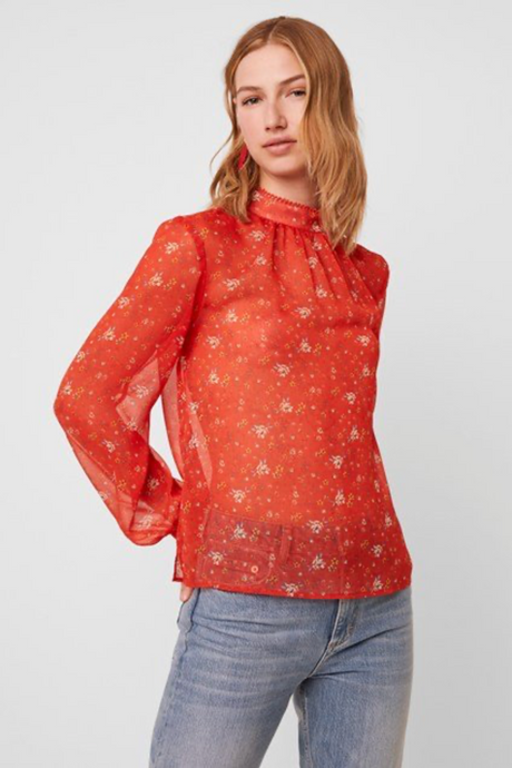 Floral Crinkle Blouse (More colors available!)