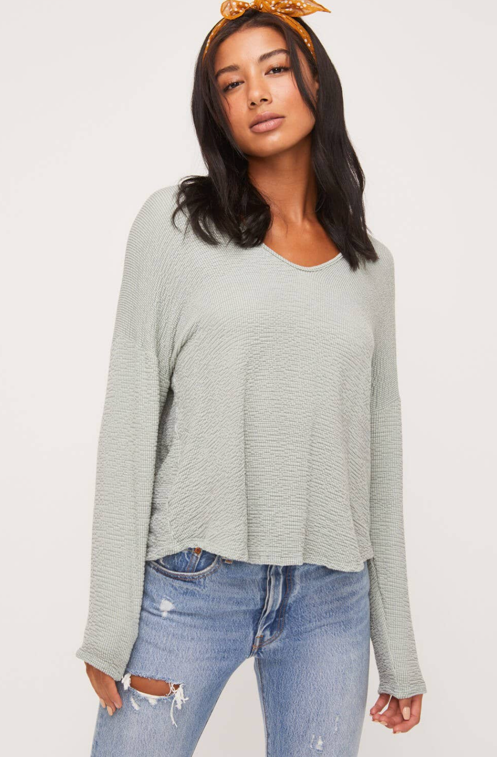 Knit Seam Back Top
