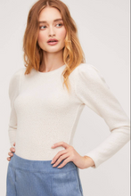 Cream Puff Sleeve Sweater