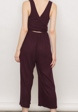 Ribbed Wrap Back Jumpsuit