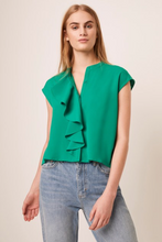 SALE Ruffle Front Short Sleeve Blouse (More colors available!)