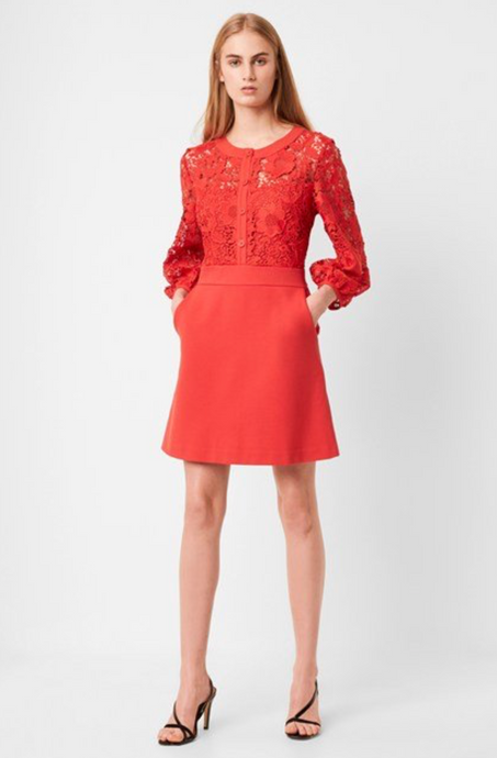 SALE Margot Red Lace Dress
