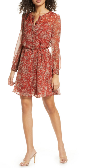 Esi Red Floral Dress