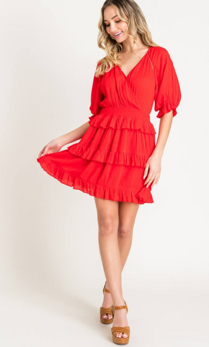 SALE Tiered Ruffle Dress