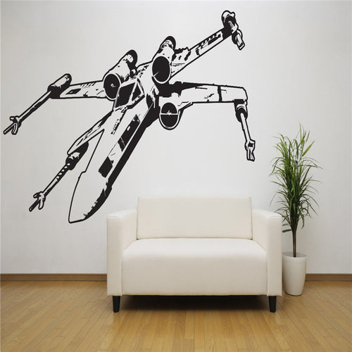 G084 Star Wars X Wing Vinyl Wall Decal, Room Decor, Removable Starwars Sticker Space Creative living room bedroom wall stickers
