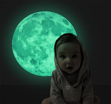Luminous Night Moon Glow in the Dark Moon Space wall Stickers bedroom mural wall decals for kid room home decor poster