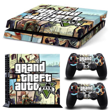 GTA-V For Playstation 4 Console Decal Vinyl Skin Cover For Sony PS4 Games with 2 Controller Skin