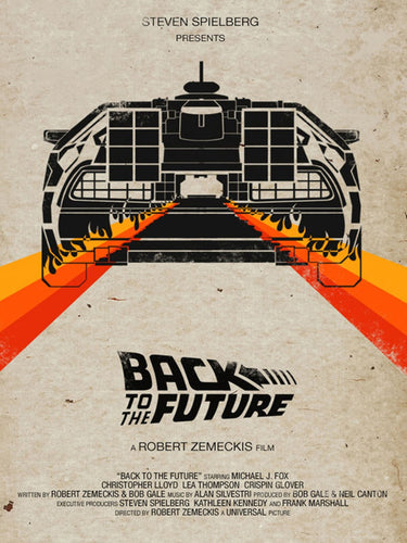 Back to the Future 1 2 3 Movie Fabric poster 32